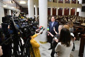 А. Савиных выступил перед журналистами СМИ с заявлением в связи с подписанием Соглашения между РБ и ЕС об упрощении выдачи виз