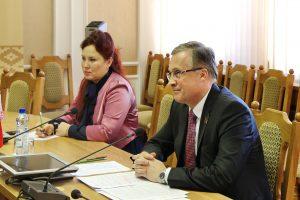 Встреча Савиных А.В. с Чрезвычайным и Полномочным Послом Французской Республики в Республике Беларусь Николя де Лакостом.