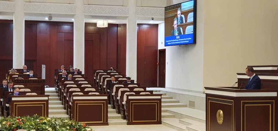 Андрей Савиных, председатель Постоянной комиссии Палаты представителей Национального собрания РБ по международным делам